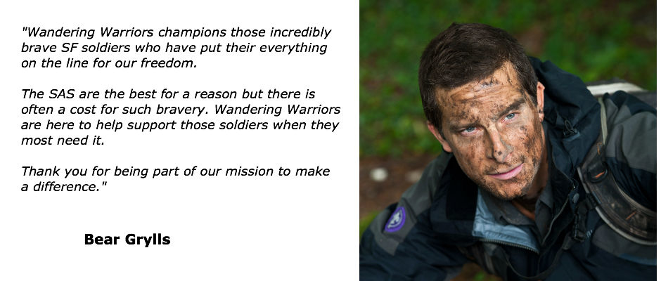 Bear Grylls supports the Wandering Warriors