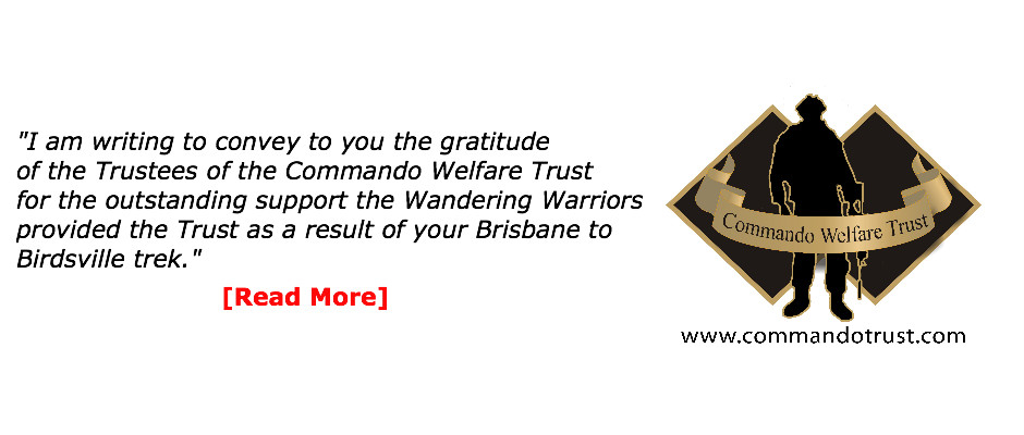 Commando Welfare Trust supports Wandering Warriors