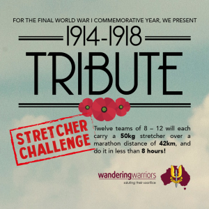 1914-1918 Tribute Stretcher Carry