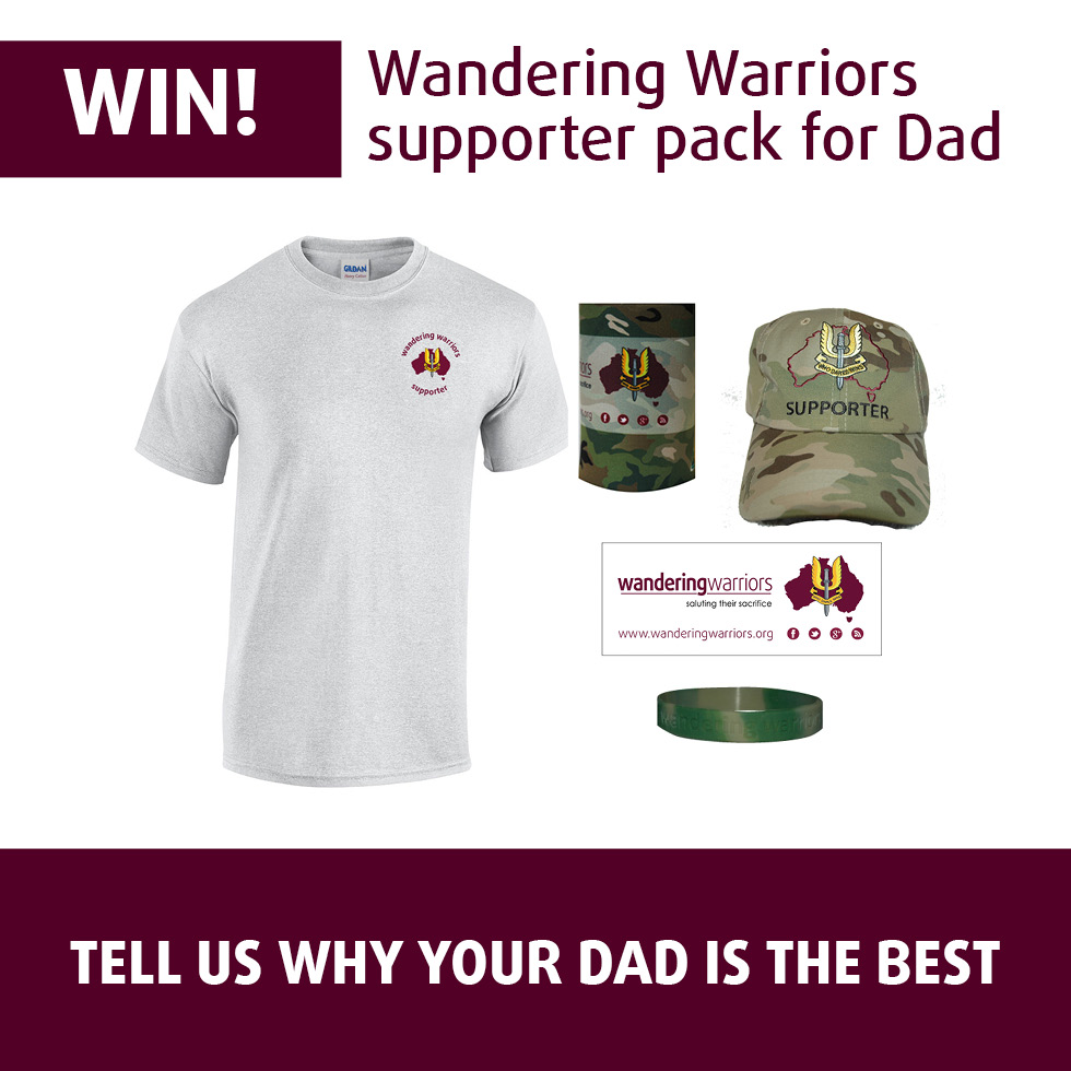 Win a Wandering Warriors Supporter pack for Dad