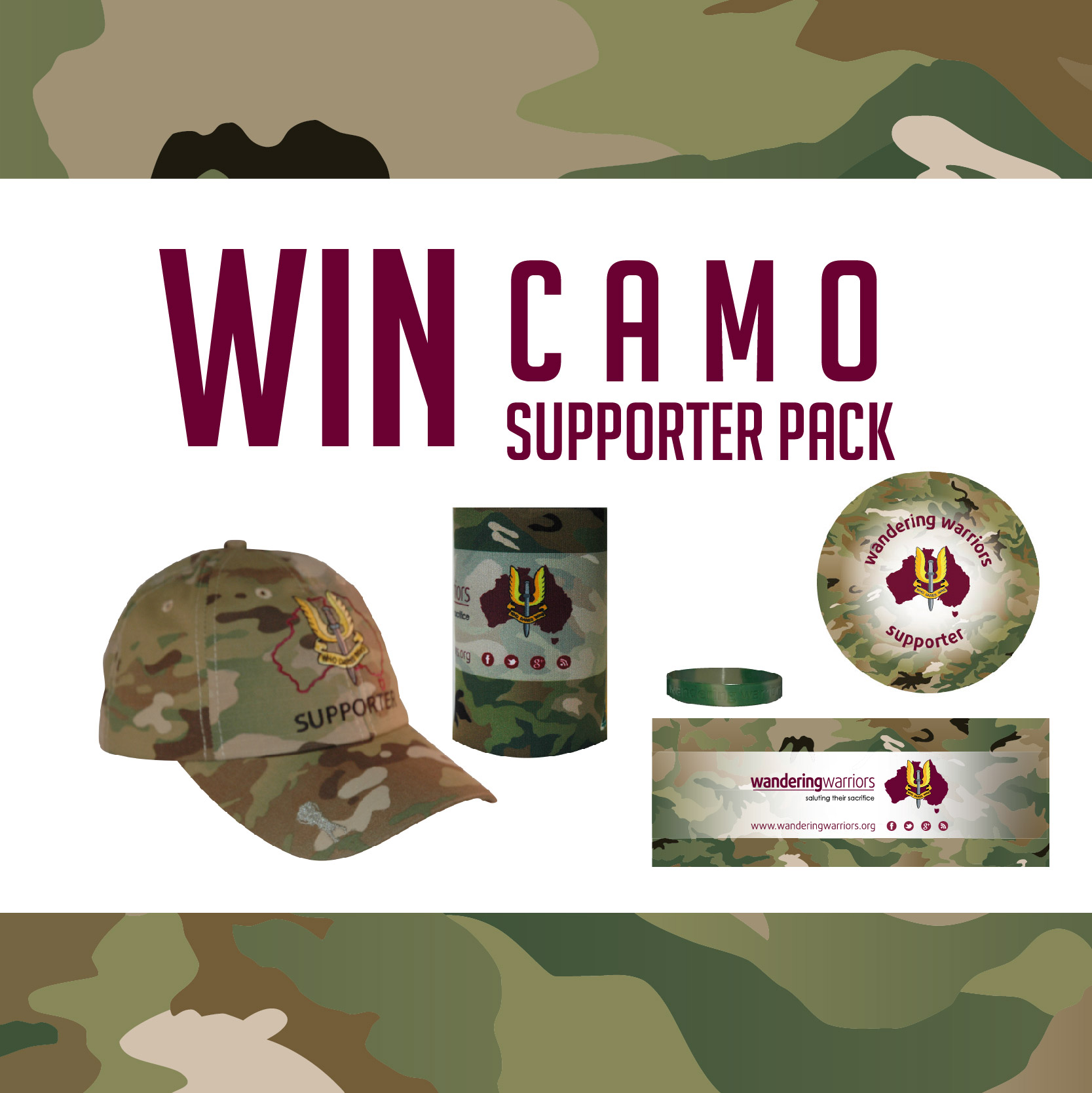 Win Wandering Warriors Supporter pack this ANZAC Day